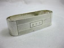 Argent solide -- grand ovale Serviette Ring-American -- marqué: - gorham sterling