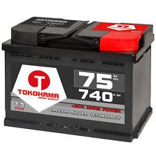 Autobatterie 75Ah +30% mehr Leistung CA/CA und extra Kaltstartleistung 740A 12V