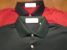 2 FAIRWAY & GREEN SHIRTS 1 GREEN/1 RED WITH STRIPES SIZE M