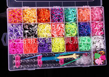 4400 pc Rubber Band Bracelet Refill Kit - Rainbow Loom Bands Colorful + DIY TOOL