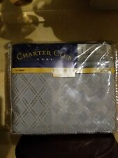 "Charter Club Green California King Bed Skirt 16"" Alexander Jacquard Pattern"