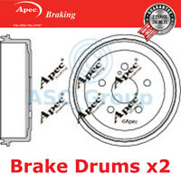 2x Apec 201mm (Internal) 5 Stud Replacement Rear Handbrake Brake Drums DRM9106