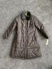 Jones New York Womens Brown Long Winter Puffer Coat Medium Nwt $199