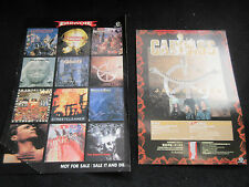 Carcass 1994 Japan Tour Flyer with Promo Sticker Sheet of Earache Heavy Metal