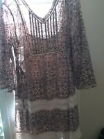 XL ~MIMI CHICA NWT NEW Nordstrom Floral Dress Sheer Floral Dress Size X-LARGE