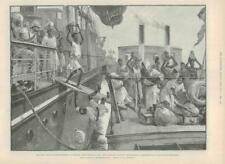 1890 Antique Print - DEMOCRATIC REPUBLIC CONGO BANANA POINT STANLEY MADURA (167