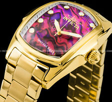 Invicta Men 47mm Grand Lupah Abalone Dial & Gold Tone Bracelet SS Watch 26127