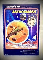 ASTROSMASH - Vintage 1981 Mattel Intellivision - Complete Video Game