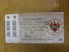 22/03/2014 Ticket: Blackpool v Huddersfield Town (Complete, Folded). Any faults