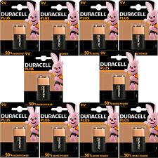 10 Duracell Plus 9V Battery MN1604 6LR61 PP3  DATE 2024