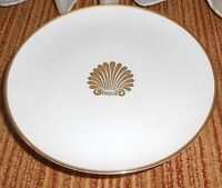 Georges Briard Coquille D'Or Pedestal Cake Serving Plate Gold Center Shell Trim