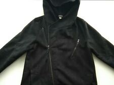 Women's black Divided H&M coat size Eur L, USA L, UK 14-16, chest size 40-42 in.