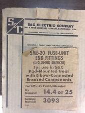 S&C SME-20 Fuse Unit End Fittings For SMU-20 Fuse Units 14.4-25kV 3093