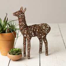 Rustic Twisted Brown Wire Llama Figure