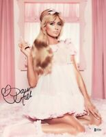 PARIS HILTON SIGNED 11X14 PHOTO AUTOGRAPH NAUGHTY BAS BECKETT COA