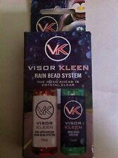VISOR KLEEN RAIN BEAD SYSTEM FOR ALL MOTORBIKE VISORS NO MORE TURNING YOUR HEAD