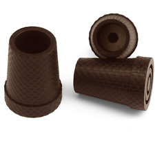 """Gummipuffer """"KARO"""" mit Stahleinlage braun für Leichtmetall-Gehstöcke 16-18mm"""