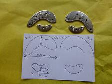 lot vintage de 2  paire de fers à chaussure SOLEIL et VB nez et talon en acier