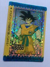 Carte dragon ball - original holo card prism goku version bulle japan
