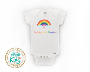 God Keep His Promises Rainbow baby Onesie-Baby Gift-Shower-Newborn gift-