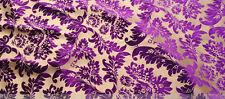 ELEGANT DESIGNER UPHOLSTERY FABRIC-Bronzing velvet/ flannelette No.14 Purple
