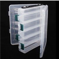 Double Layer 12 Slots Fishing Lure Bait Hook Tackle Storage Box Case Container