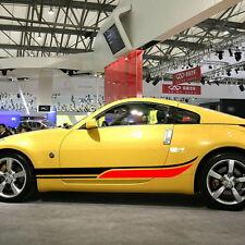 Car Sports Dual Stripe 78'' for 350Z 370 Z Lower Door Decal Motor sticker ZC1354