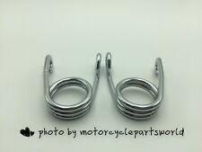 "2"" Chrome Scissor Torsion Solo Seat Springs for Harley Chopper/Bobber Motorcycle"