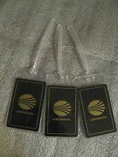 Continental Airlines Black Gold Vintage Playing Card Luggage Name Tag Tags (3)