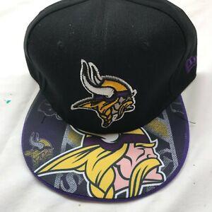 Minnesota Vikings  2019 NFL NEW ERA 9FIFTY Snapback Hat - Black  NWT