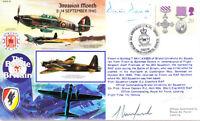 RAFA 15 WWII WW2 BoB Battle of Britain hand signed  Grp Cpt DAVID CBE DFC AFC