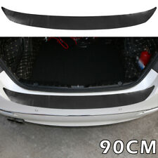 Car Rear Boot Bumper Sill Protector Plate Rubber Cover Guard Trim Pad Moulding