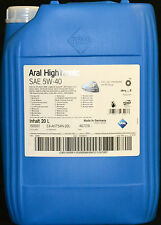 20 Liter ARAL High Tronic 5W40 Motoröl 5W-40 VW 505.01 BMW Longlife-04 MB 229.31