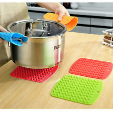 4Pcs Silicone Insulated Pads Novel Coasters Cup Mats Bowl Dishes Kitchen Pot Pad