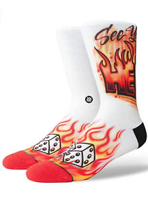Stance Men's Airbrush Hell Socks Red Size L (9-12)