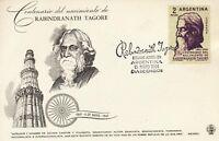 ARGENTINIEN 1961 100.Geburtstag von Rabindranath Tagore (1861-1941) MAXIMUMKARTE