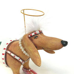 """Dept.56 Krinkles Large Dachshund In Scenic Suit Christmas Ornament #36606 13.5"""""""