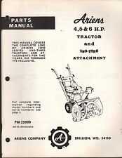 1969-1978 ARIENS 4,5 & 6 HP TRACTOR & SNO-THRO ATTACHMENT PARTS MANUAL  (918)
