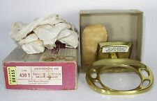 Vtg Nos Hall-Mack Tumbler Toothbrush Holder #430 T Solid Brass Aristocrome 400