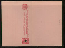 Netherlands Indies postal reply card revalued unused Mm0520