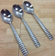 Cambridge Fracto Mirror 3 Place Oval Soup Spoons Stainless Modern Flatware