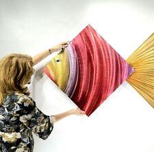 Tropical Metal Wall Art ULTRA COOL Pink Gold Beach Ocean ORIGINAL ART Jon Allen