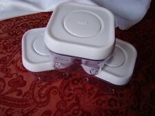 (3) ea Oxo .3 Quart Pop Small Square Food Storage Containers