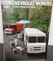 1970 Chevrolet Step Van & Forward Control Chassis Truck Brochure Original