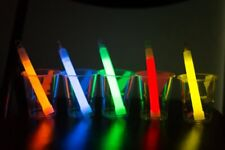"""25 6"""" Premium Thick Christmas Party Light Glow Sticks free string assort color"""