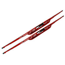 2PC 18 Inch Red Windshield Window Wiper Wipers Blade Blades Colored For Ford