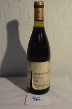 C36 Bouteille de vin de collection Chateauneuf Du Pape 1986