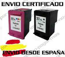 2x CARTUCHOS DE TINTA COMPATIBLE HP 301 XL NEGRO + COLOR NON OEM 301XL