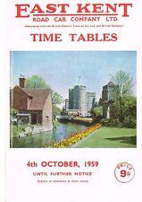 East Kent Road Car Co timetables 4.10.1959