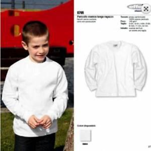 T-shirt bambino Effepi manica lunga a girocollo in cotone pettinato art 876R